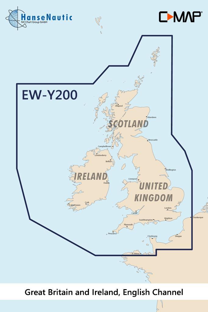 C-MAP Discover Großbritannien, Irland, Englischer Kanal EW-Y200