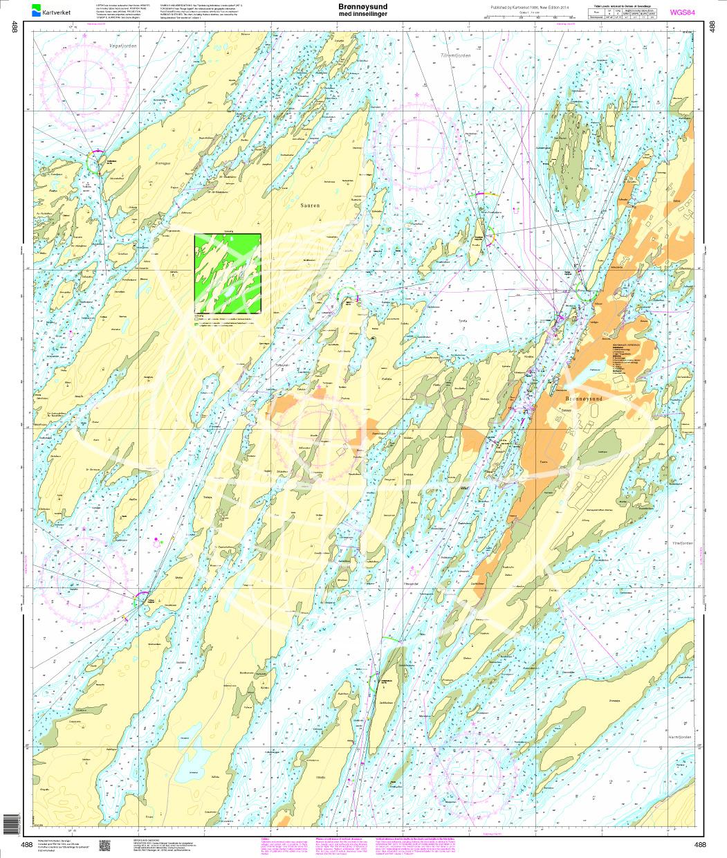 Norwegen N 488 Atlantik Brønnøysund med innseilinger