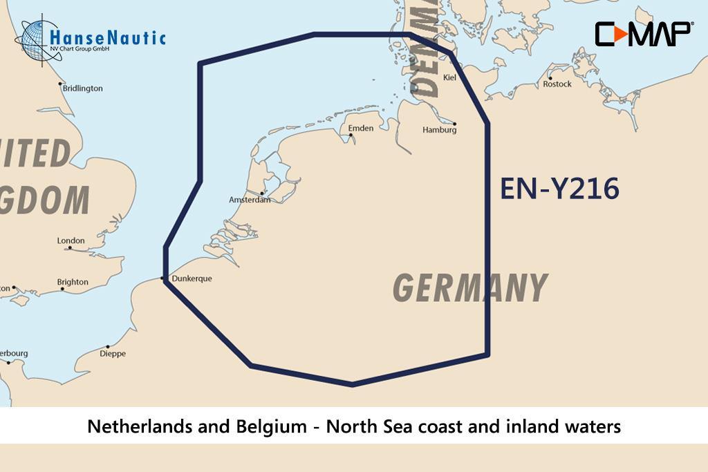 C-MAP Discover Niederlande & Belgien - Nordseeküste u. Binnengewässer EN-Y216