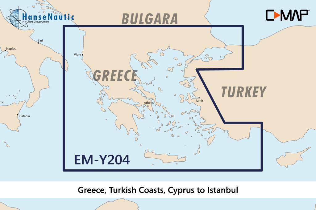 C-MAP Discover Ägäis, Griechenland, türk. Küsten, Kreta bis Istanbul EM-Y204