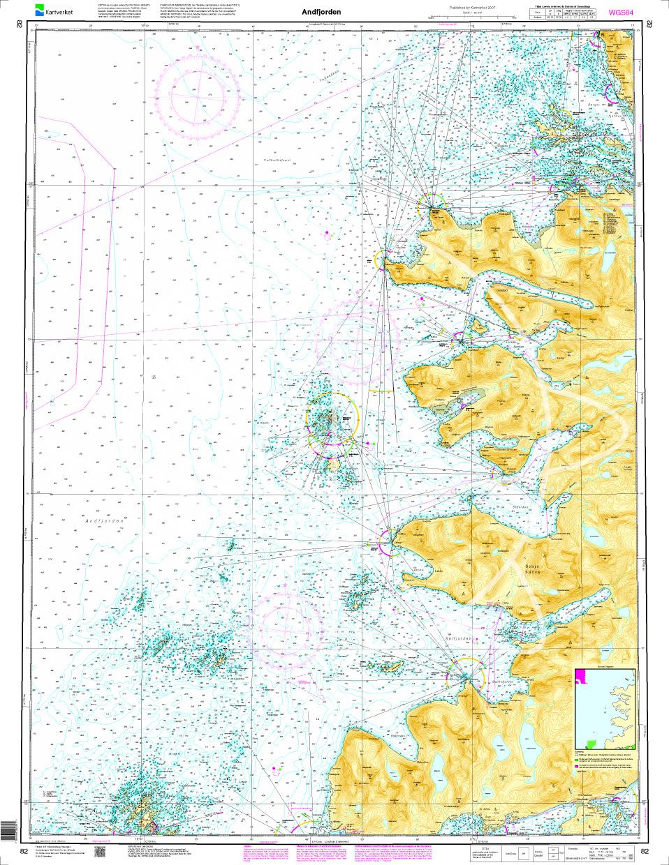 Norwegen N 82 Lofoten Andfjorden