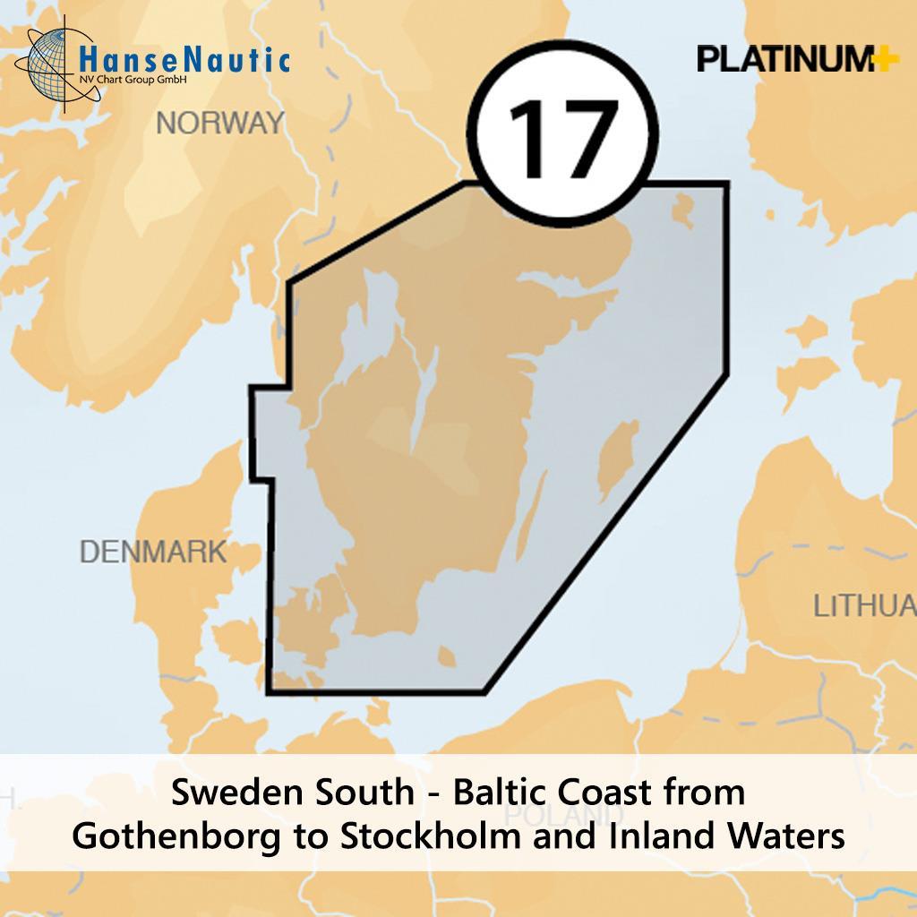Navionics 17P+ SD Südschweden