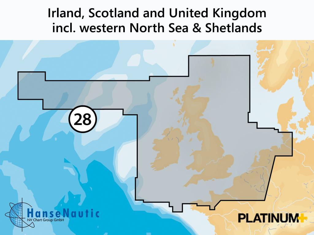 Navionics 28P+ SD UK, Irland und Holland