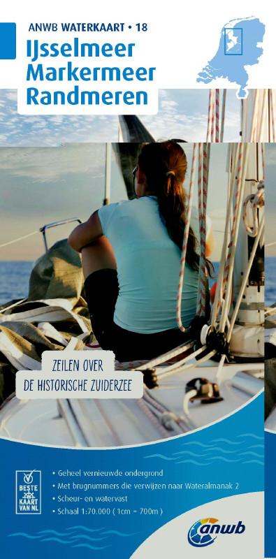 ANWB Waterkaart 18 - Ijsselmeer-Markermeer / Randmeeren