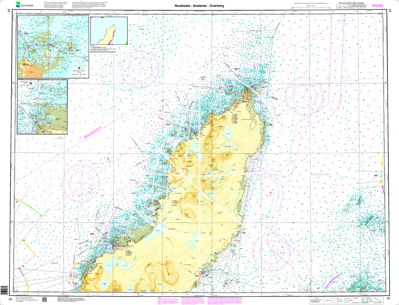 Norwegen N 81 Lofoten Andoya Nordmele - Andenes - Dverberg