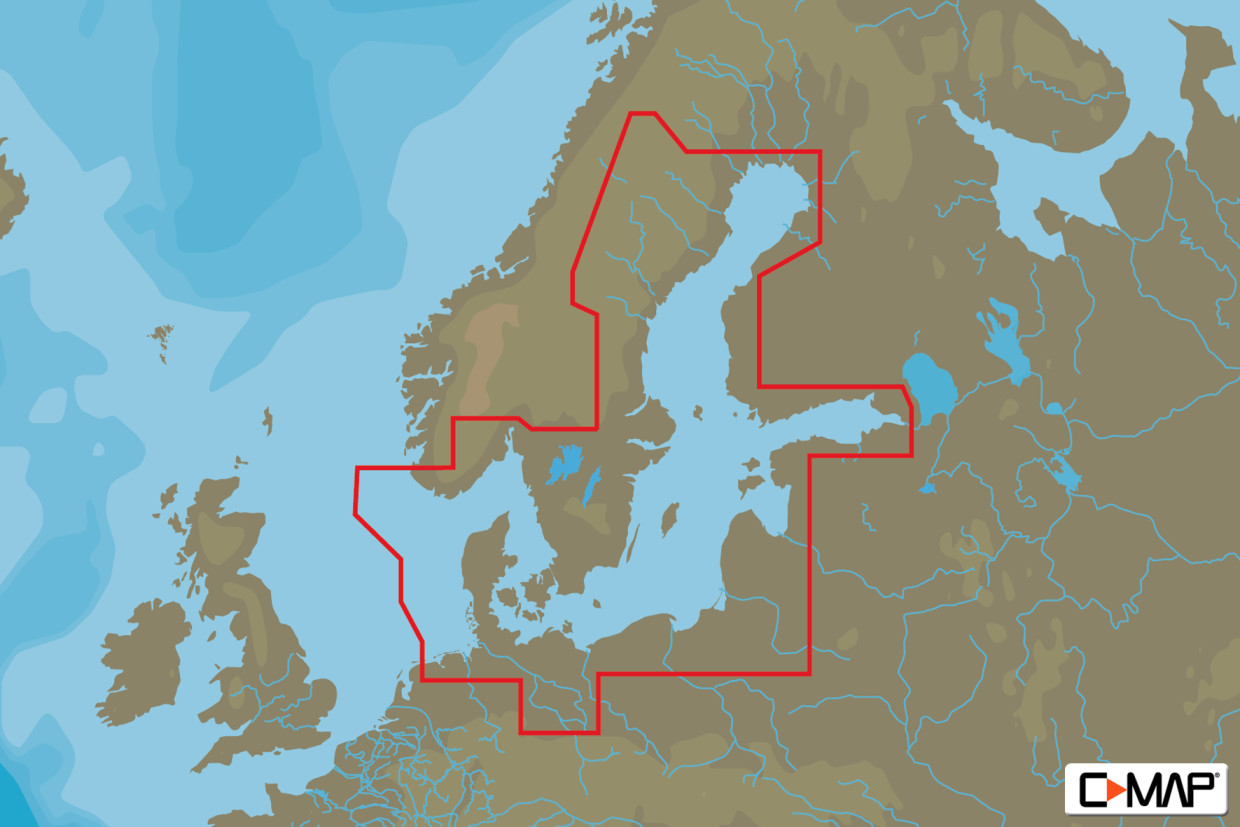 C-MAP 4D MAX+ Wide EN-D299 Baltic Sea & Denmark