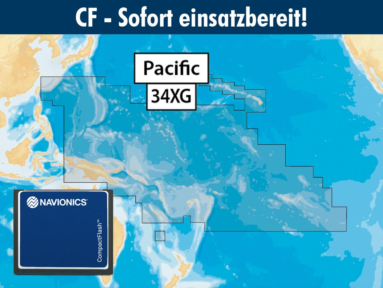 Navionics+ preloaded 34XG CF Pacific islands