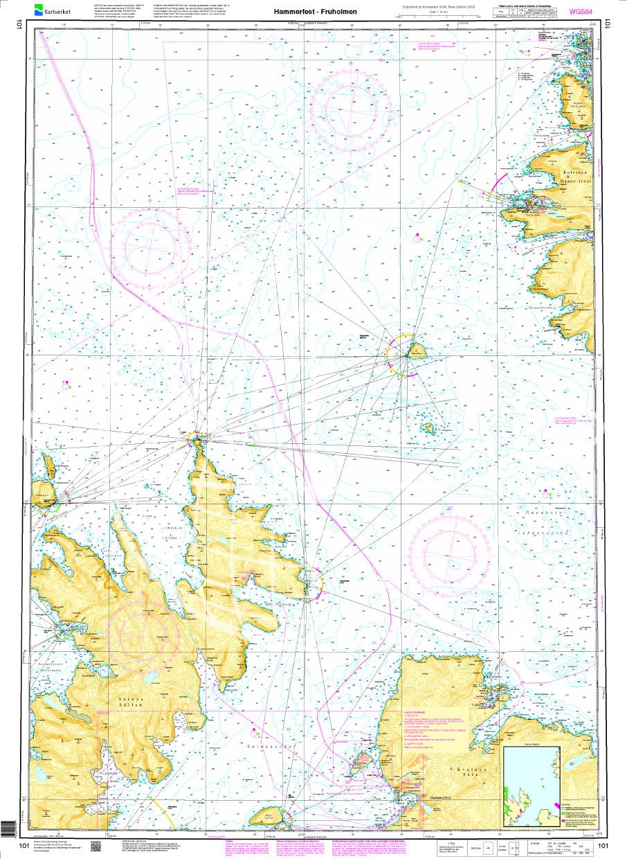 Norwegen N 101 Troms und Finmark mit Hammerfest - Fruholmen