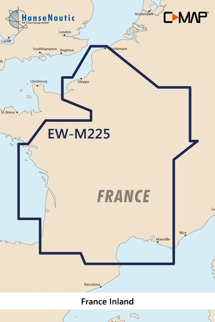 C-MAP MAX Wide EW-M225 France Inland
