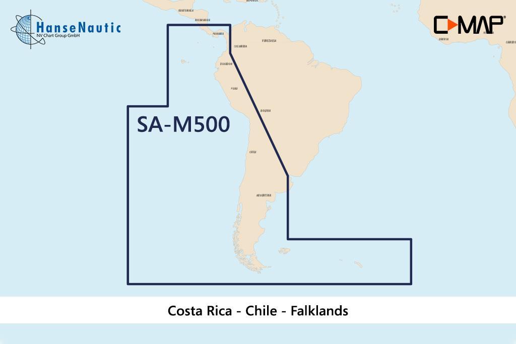 C-MAP MAX Wide SA-M500 Costa Rica - Chile - Falklands