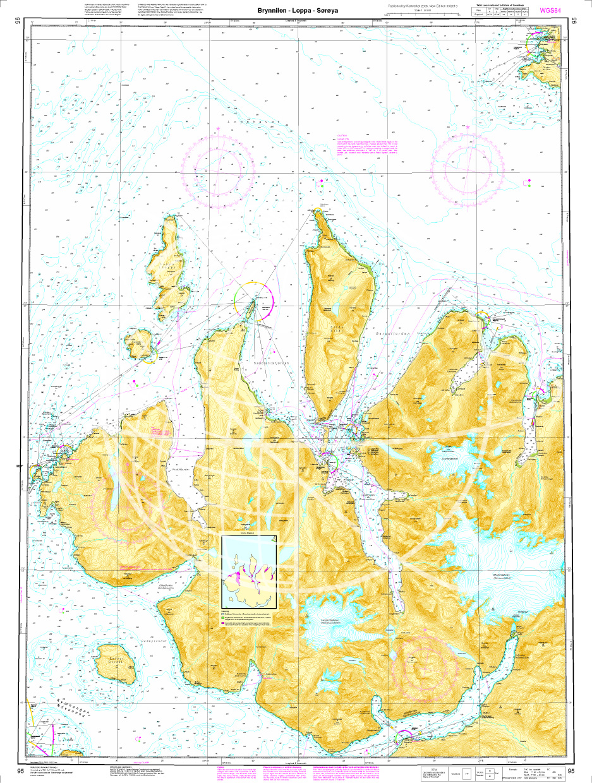 Norwegische Seekarte N 95 Brynnilen - Loppa - Sørøya
