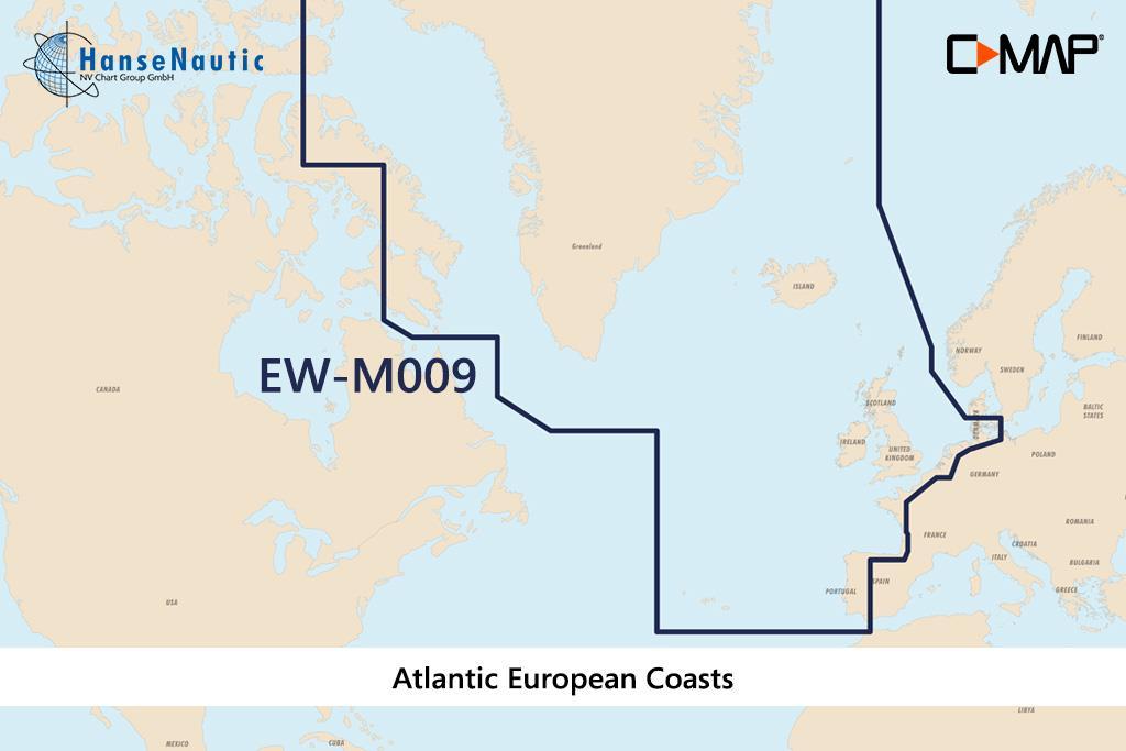 C-MAP MAX MegaWide EW-M009 Atlantic European Coasts