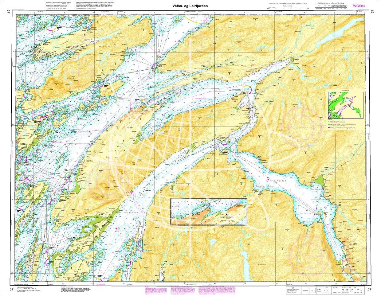 Norwegen N 57 Atlantik Vefsen und Leirfjorden