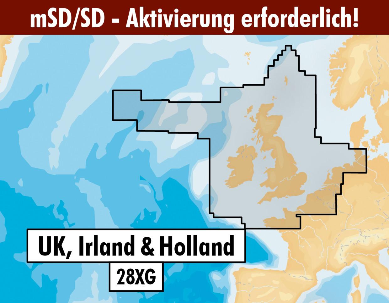 Navionics+ Update 28XG UK, Irland & Niederlande mSD