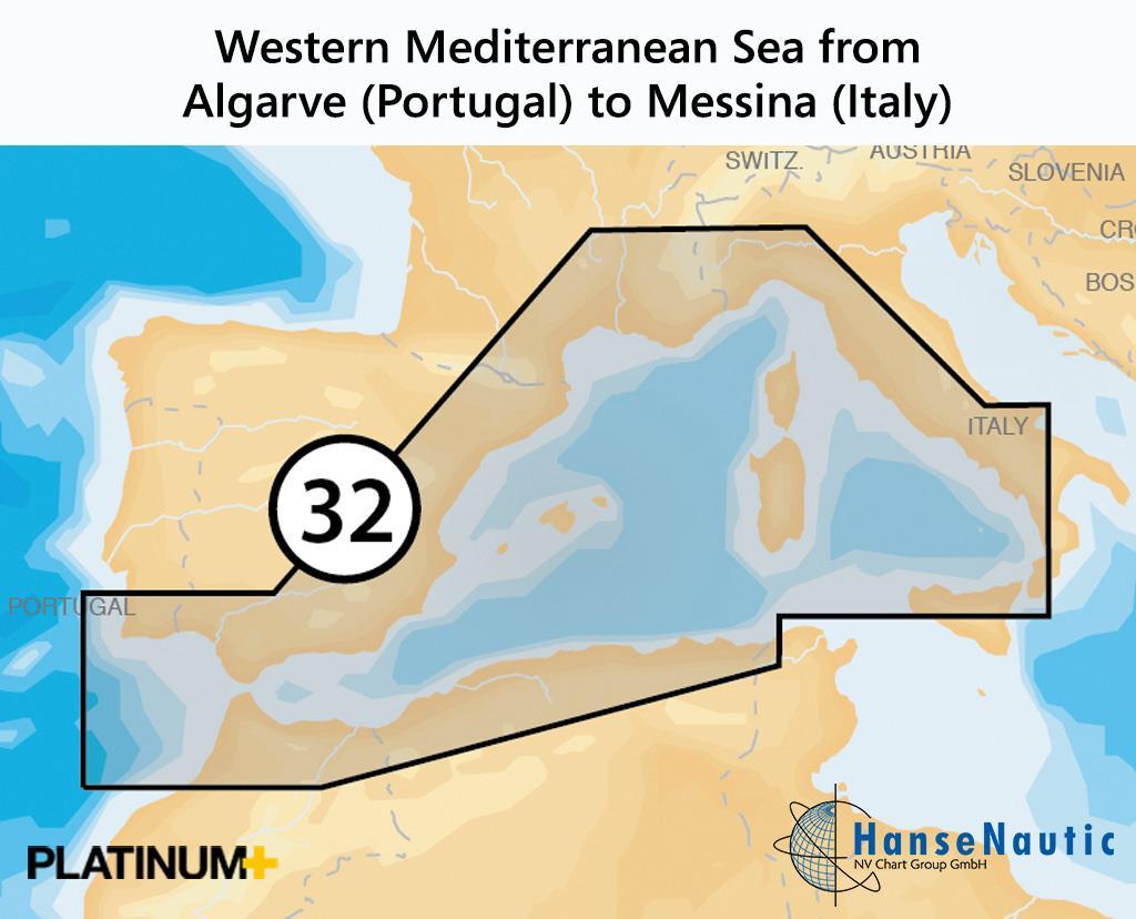 Navionics 32P+ SD Westliches Mittelmeer