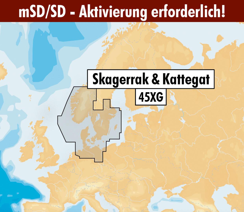 Navionics+ Update 45XG SKAGERRAK & KATTEGAT mSD