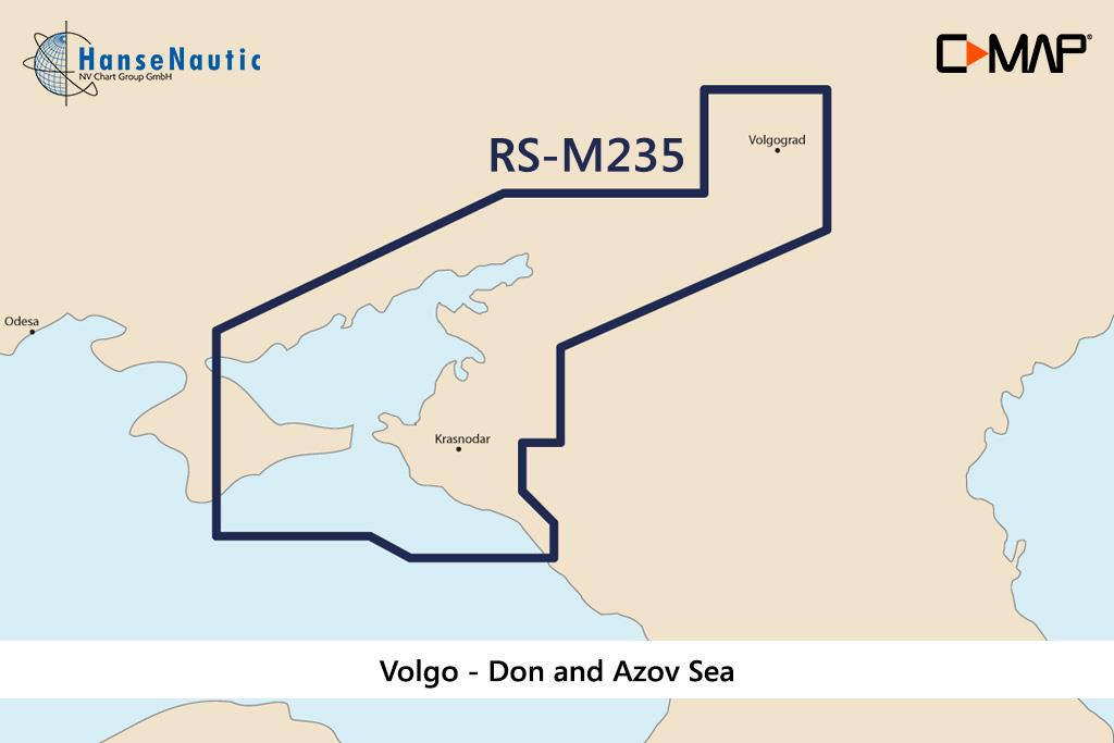C-MAP MAX Wide  Volgo - Don and Azov Sea RS-M235