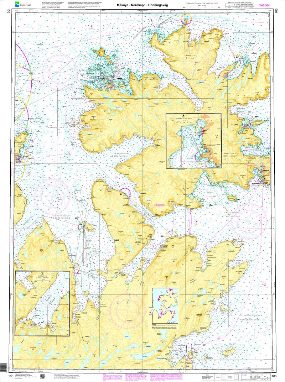 Norwegen N 103 Nordkapp mit Måsøy - Nordkapp - Honningsvåg