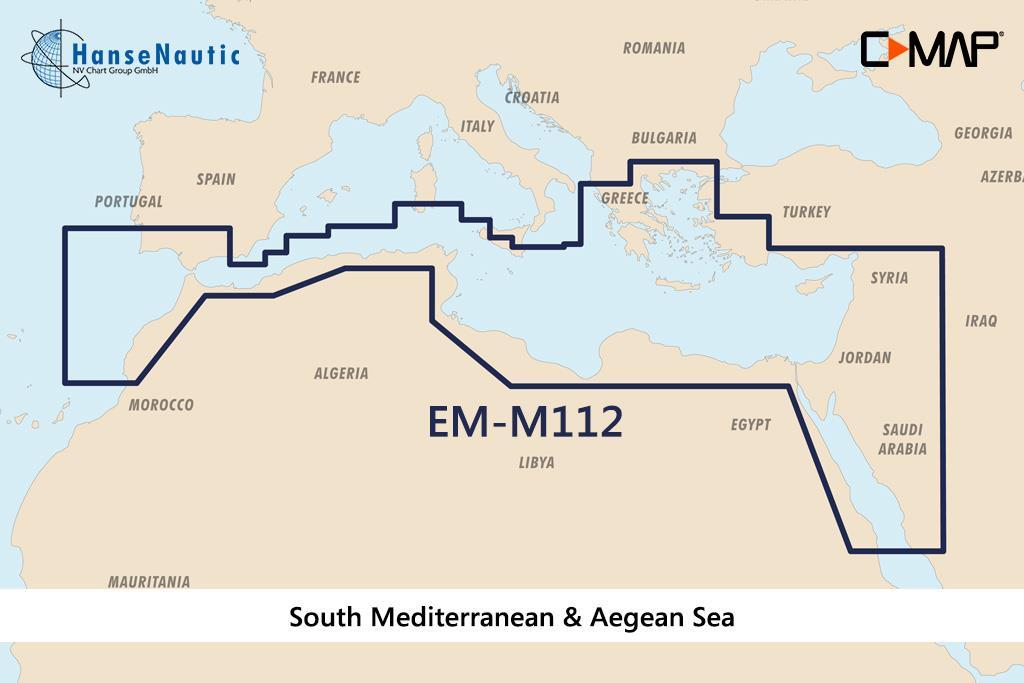 C-MAP MAX Wide EM-M112 South Mediterranean & Aegean Sea