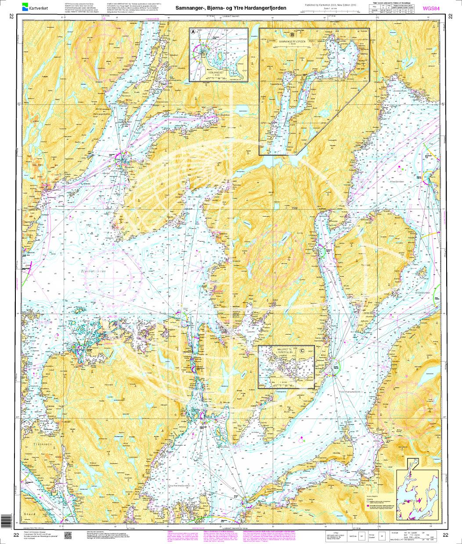 Norwegen N 22 Südwestküste Bergens Fjordwelt Samnangerfjord, Bjørnafjord und äußerer Hardangerfjord