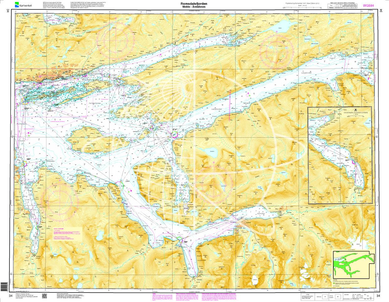 Norwegen N 34 Atlantik mit Romsdalsfjord von Molde bis Åndalsnes