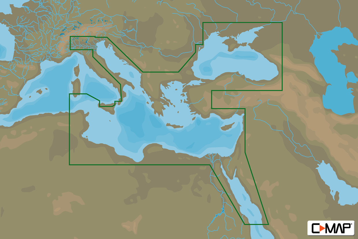 C-MAP 4D MAX+ Wide EM-D111 East Medit., Black, Caspian Seas