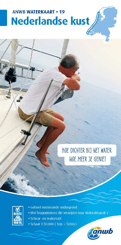 ANWB Waterkaart 19 - Nederlandse Kust