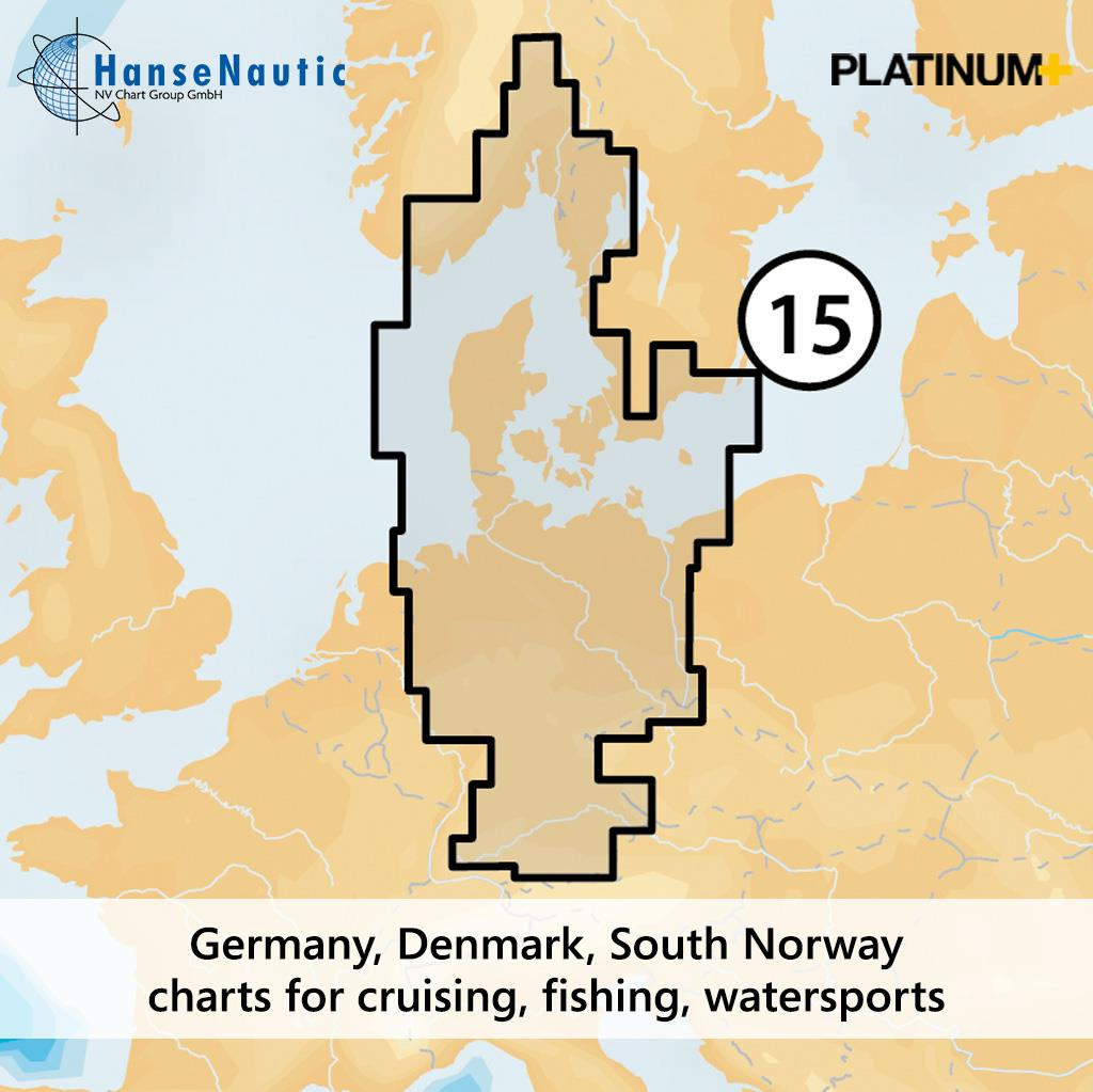 Navionics 15P+ SD Oslo bis Dänemark
