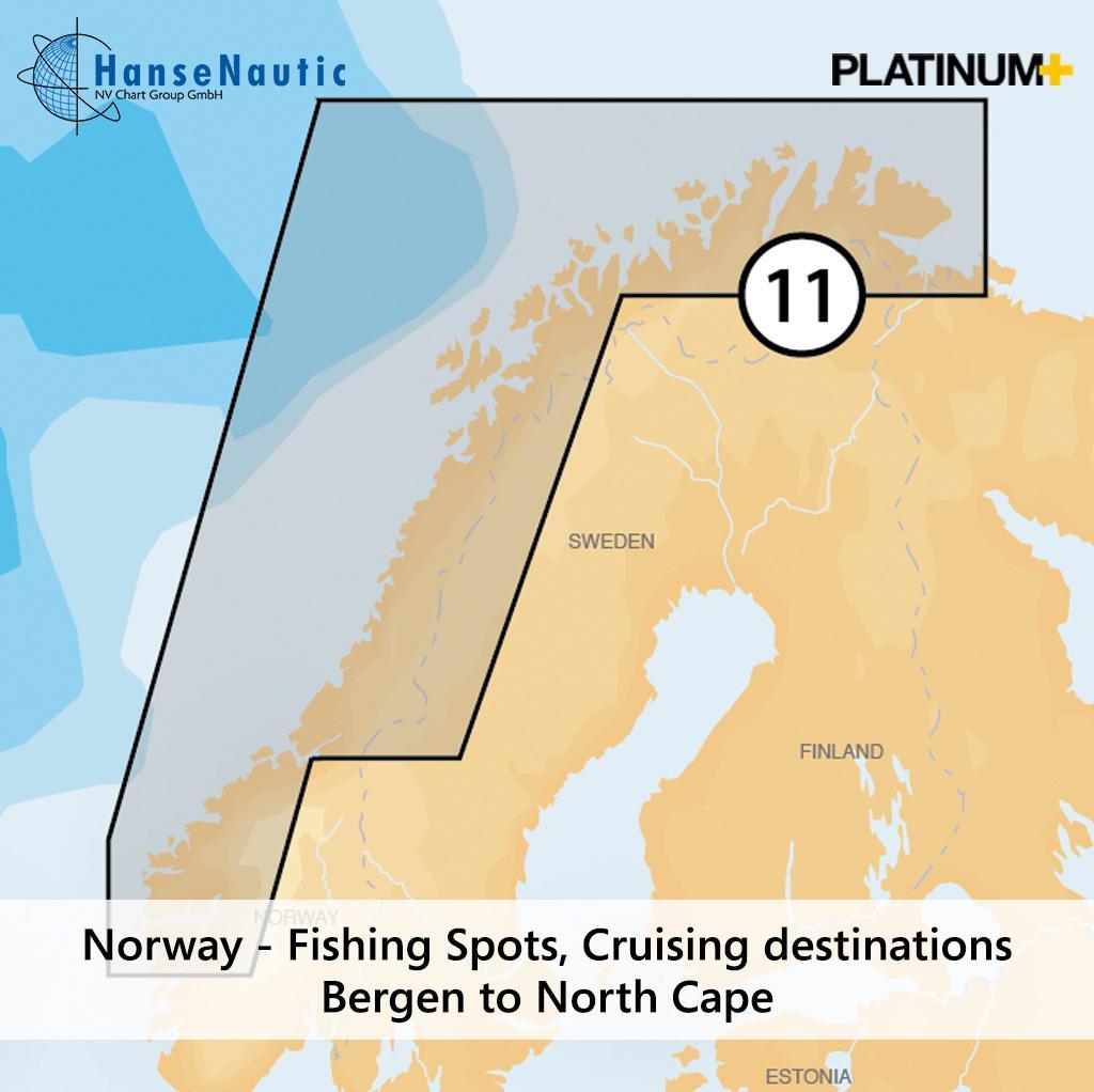Navionics 11P+ SD Norwegen Nordwest