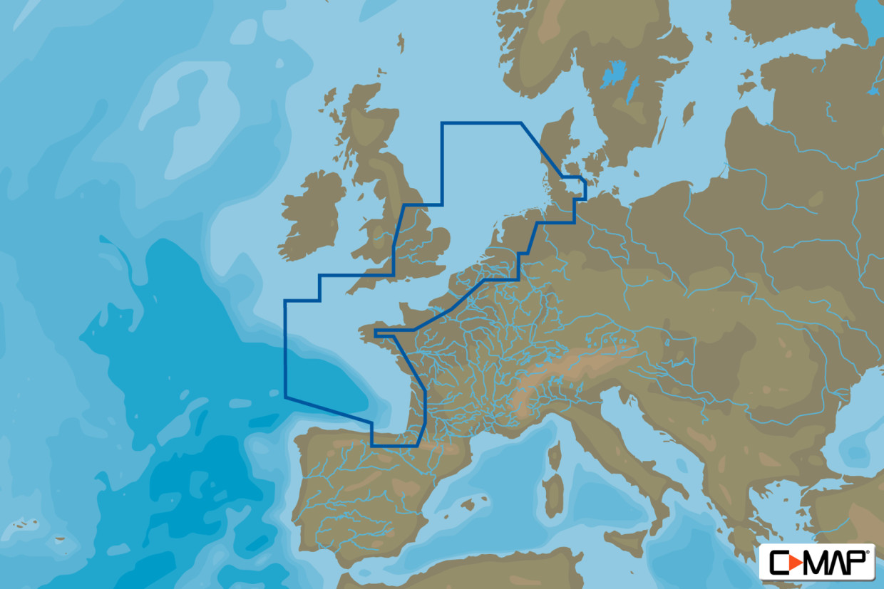 C-MAP 4D MAX+ Wide EW-D227 North-West European Coasts