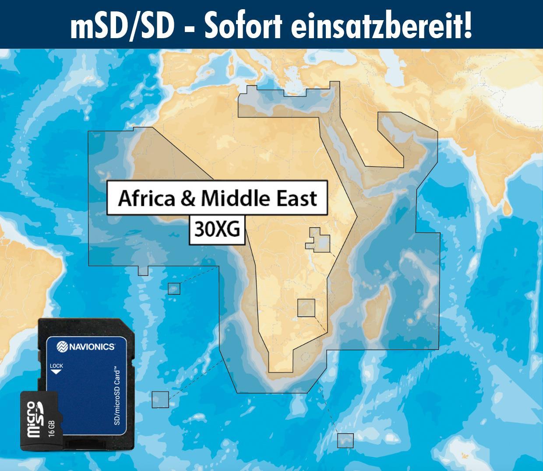 Navionics+ preloaded 30XG mSD AFRICA & MIDDLE EAST