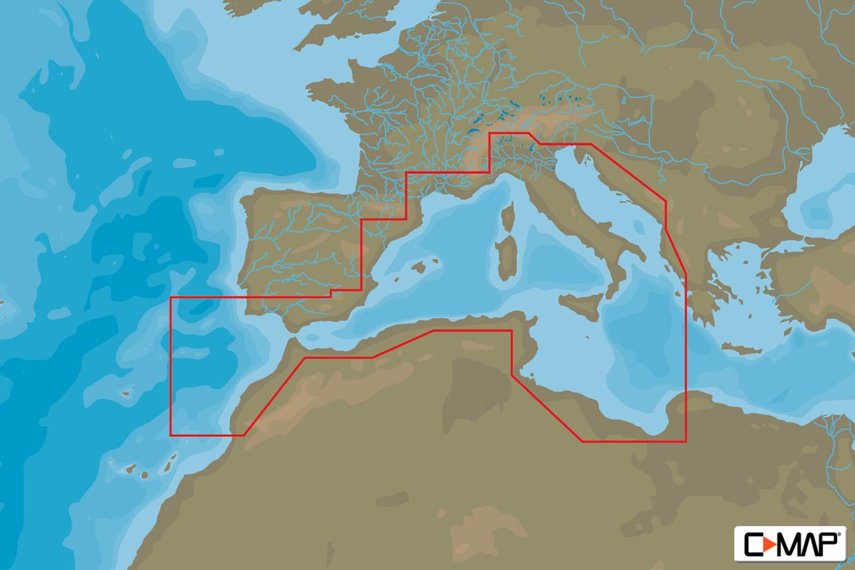 C-MAP MAX Wide EM-M976 South-West European Coasts