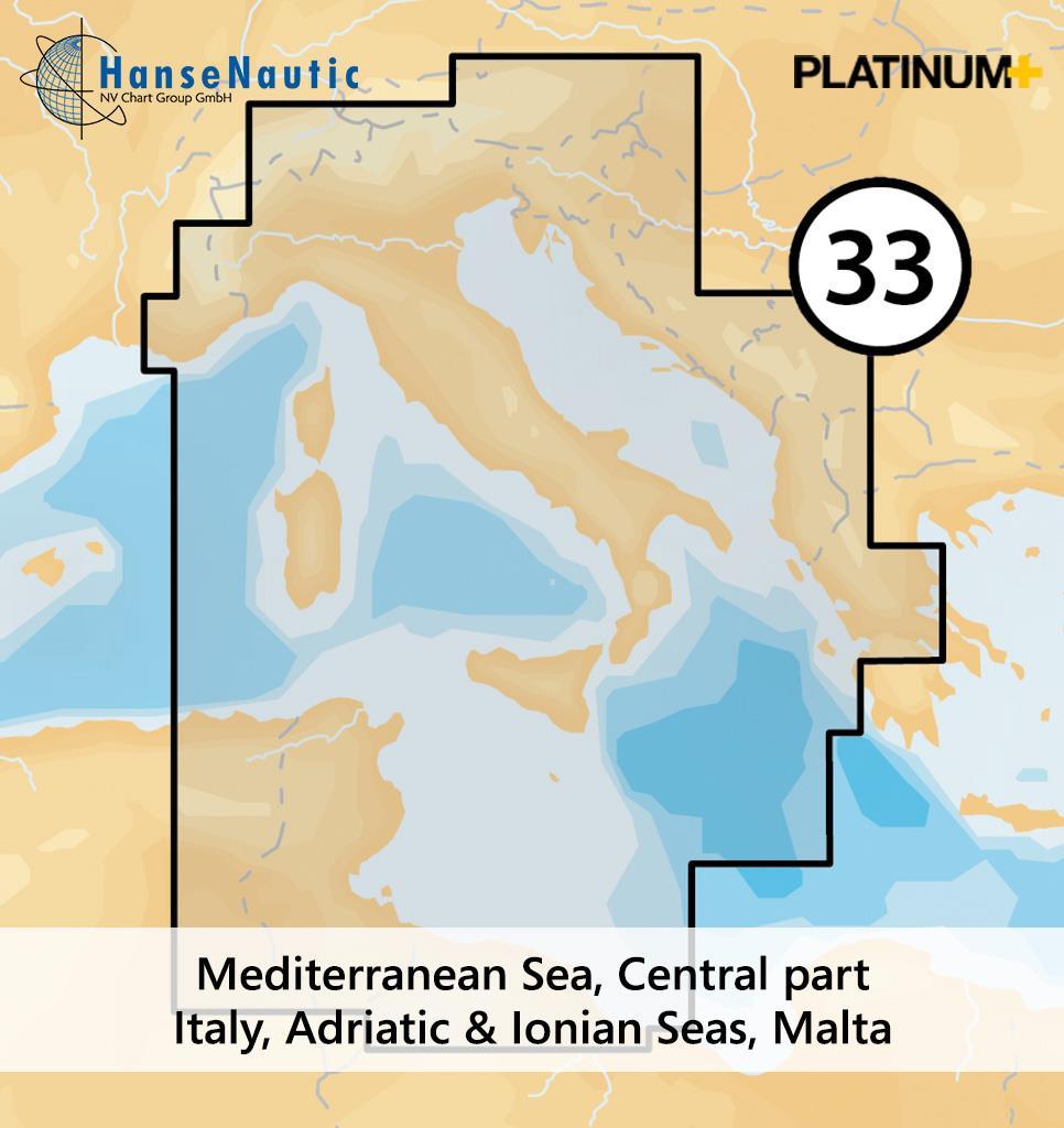 Navionics 33P+ SD Zentrales Mittelmeer