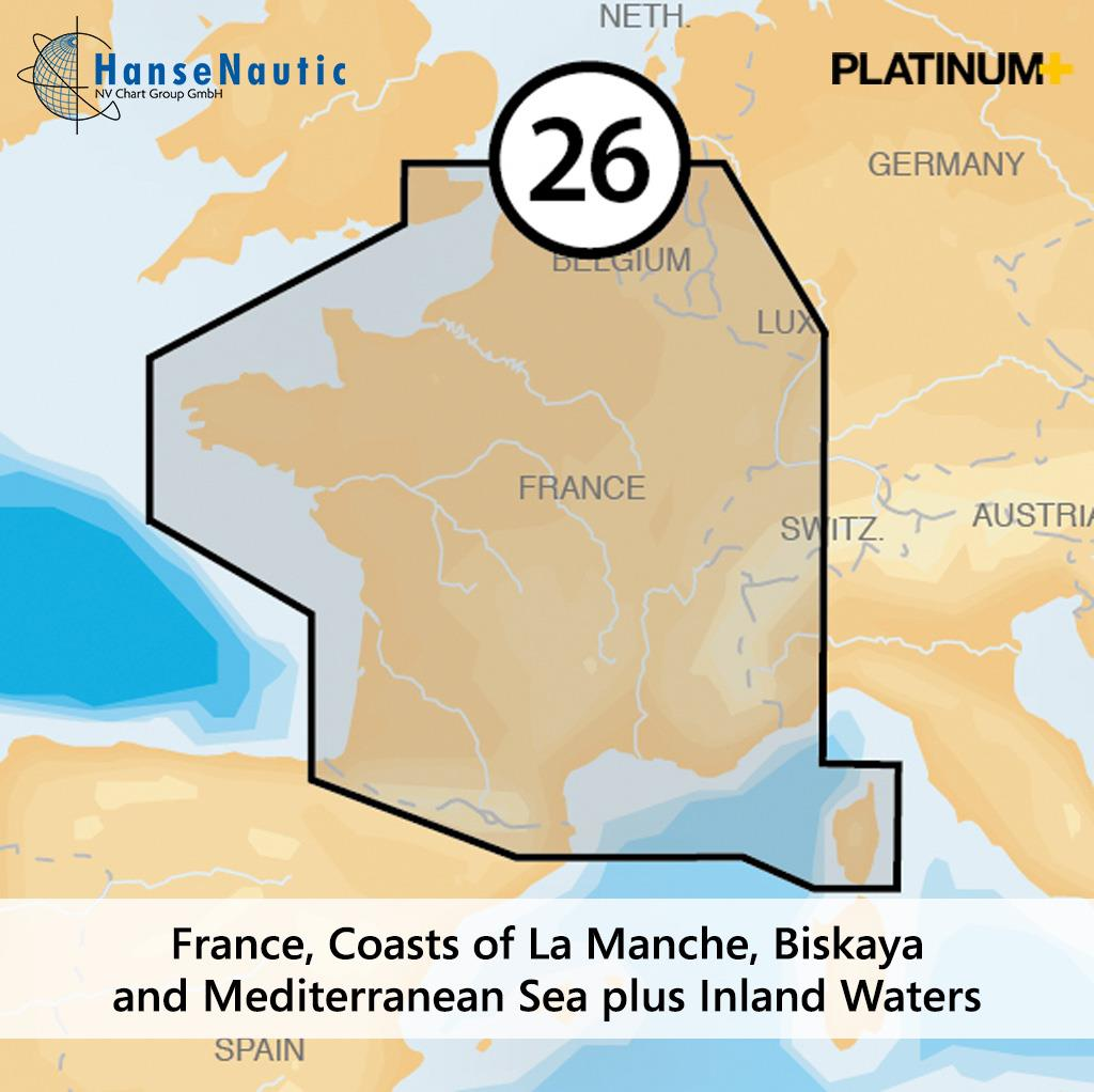 Navionics 26P+ SD Frankreich