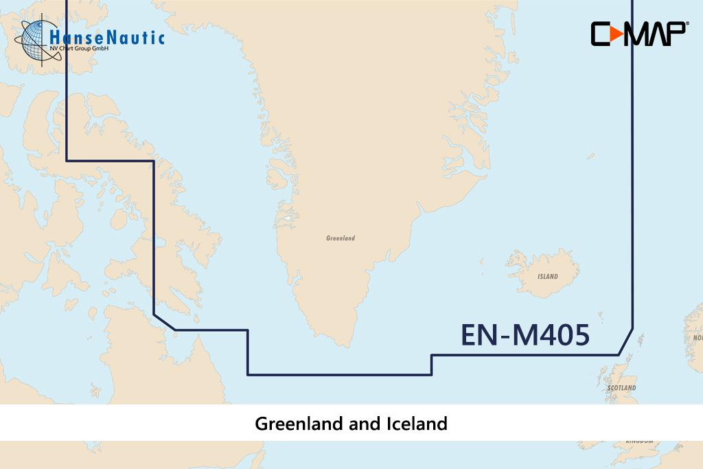 C-MAP MAX Wide EN-M405 Greenland and Iceland