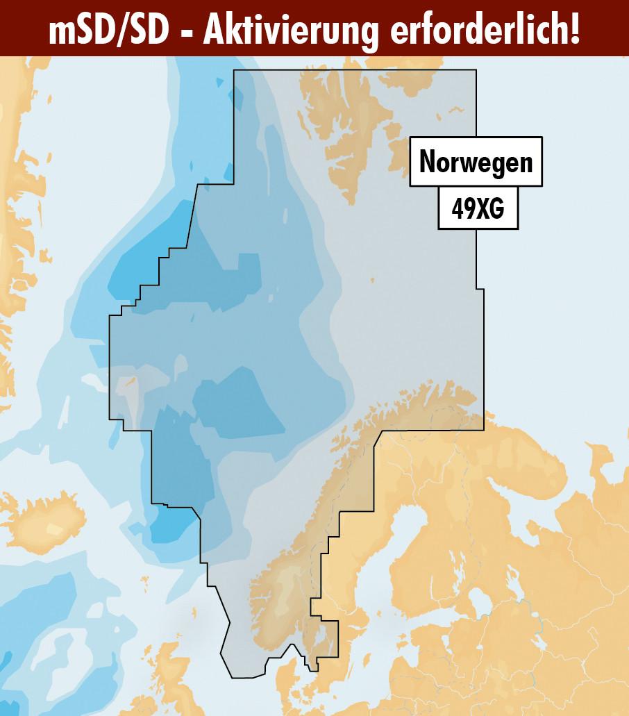 Navionics+ Update 49XG Norwegen (Norge, Norway) mSD