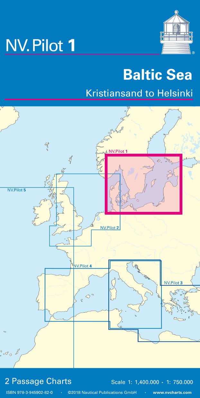 NV Pilot 1, Planning Chart Baltic Sea - Kristiansand to Helsinki