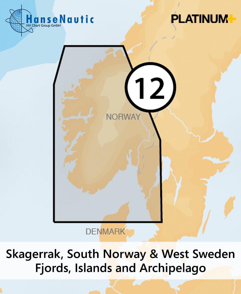 Navionics 12P+ SD Norwegen Südwest