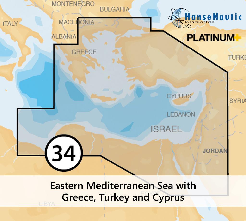 Navionics 34P+ SD Östliches Mittelmeer