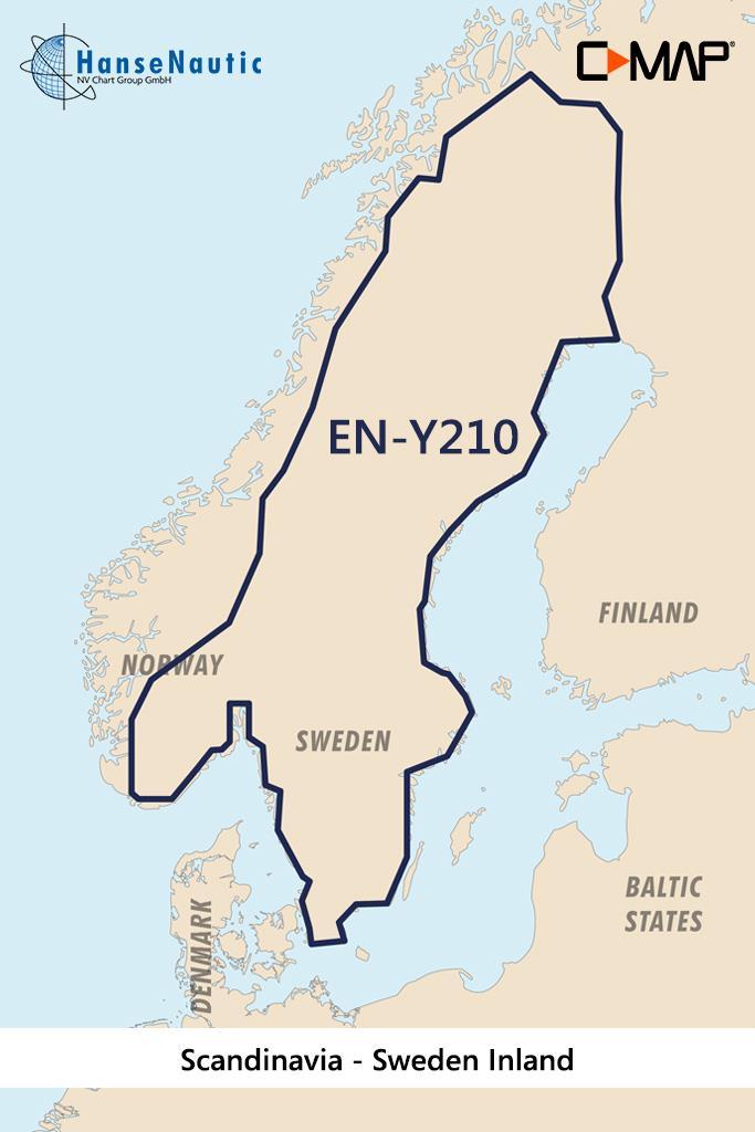 C-MAP Discover Skandinavien, Schweden Binnengewässer EN-Y210