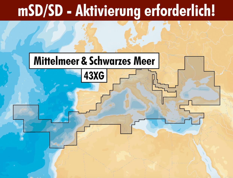 Navionics+ Update 43XG Mittelmeer (Med. & Black Seas) mSD