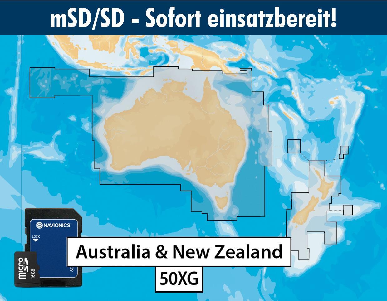 Navionics+ preloaded 50XG mSD AUSTRALIA NEW ZEALAND