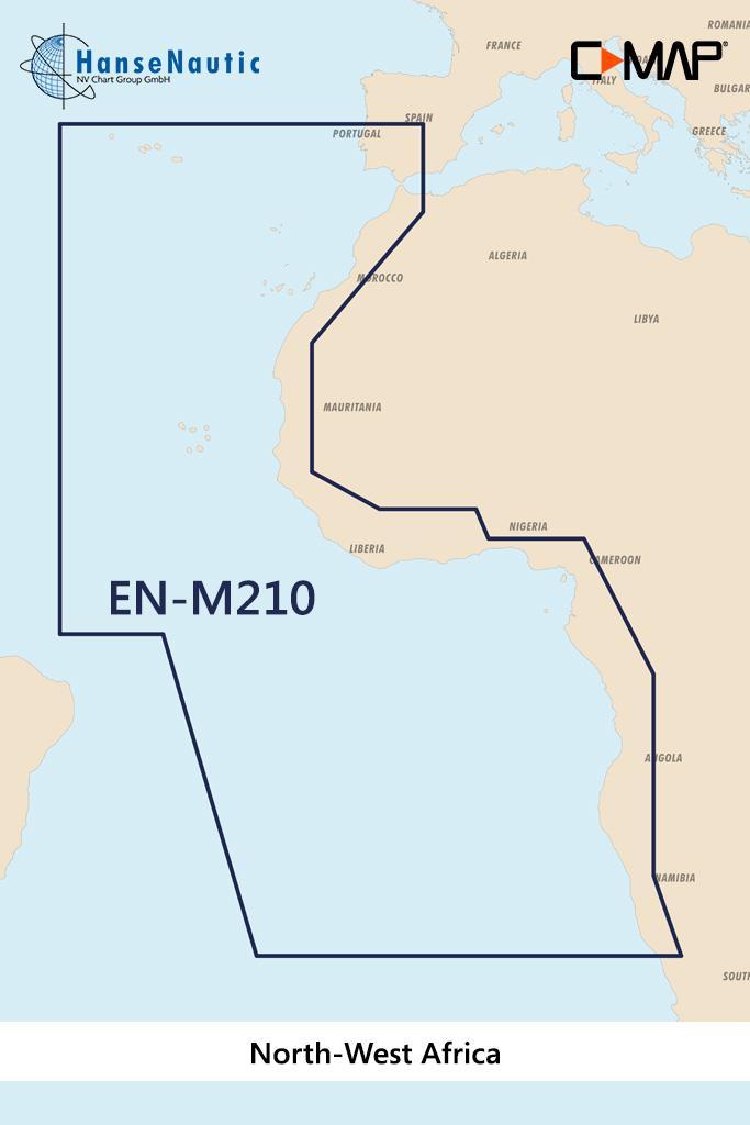 C-MAP MAX Wide AF-M210 North-West Africa