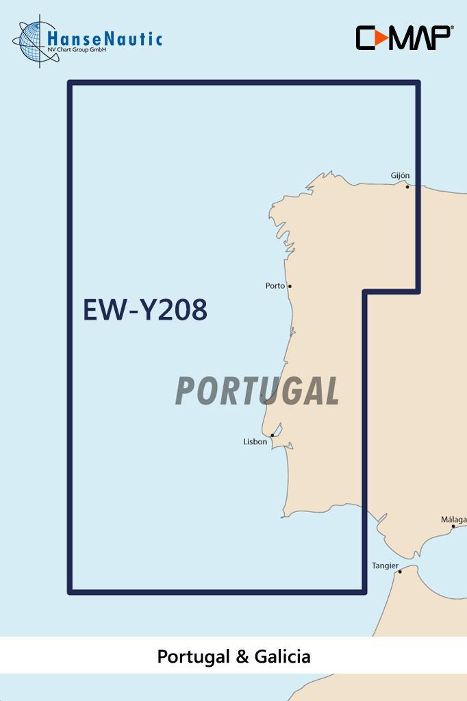 C-MAP Discover Portugal u. Galizien EW-Y208