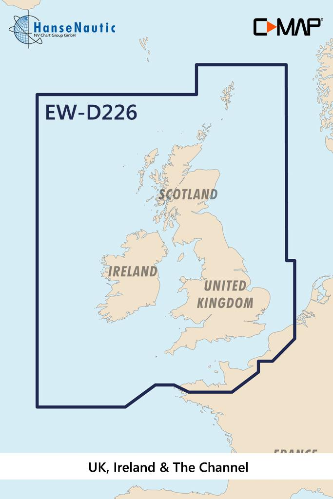 C-MAP 4D MAX+ Wide EW-D226 UK, Ireland & The Channel