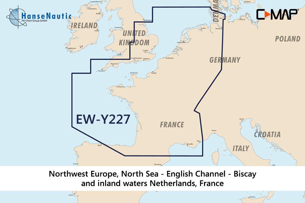 C-MAP Reveal Nordwest-Europa (North-West European Coasts) EW-Y227