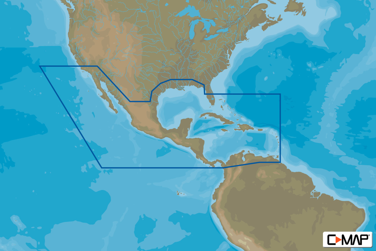 C-MAP MAX Wide NA-M027 Central America & Caribbean