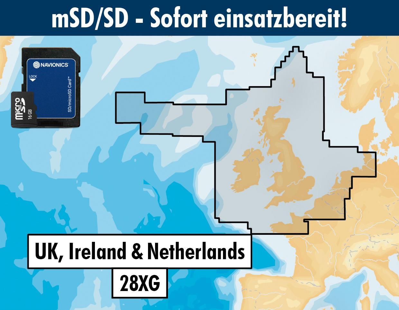 Navionics+ 28XG UK, Irland & Niederlande mSD