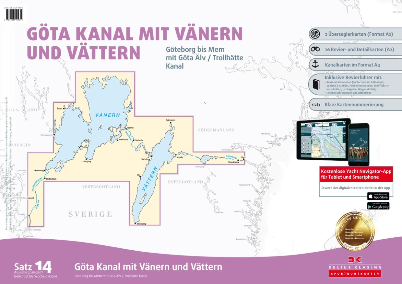 Delius Klasing Sportbootkarten Satz 14: Götakanal mit Vänern und Vättern