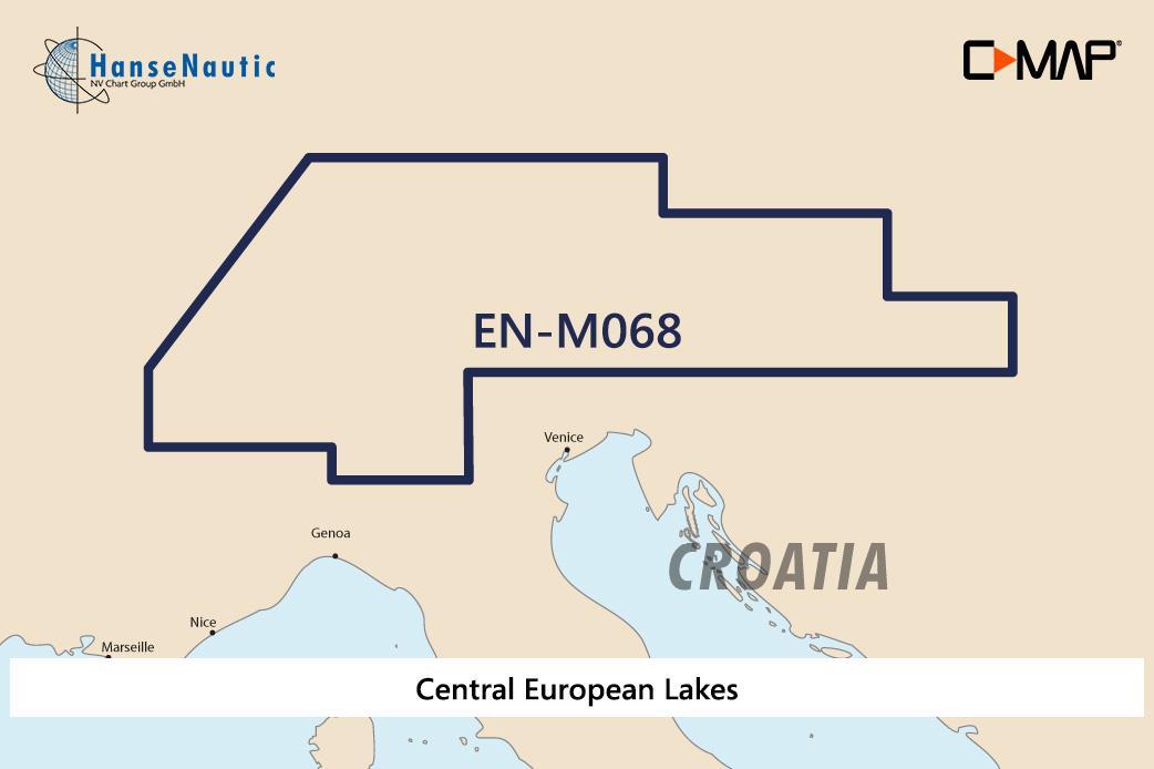 C-MAP MAX Wide EN-M068 Central European Lakes